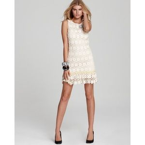 Juicy Couture Daisy Guipure Crochet Dress Cream